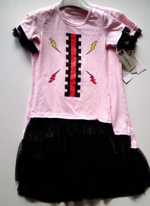 jurk roze zwart