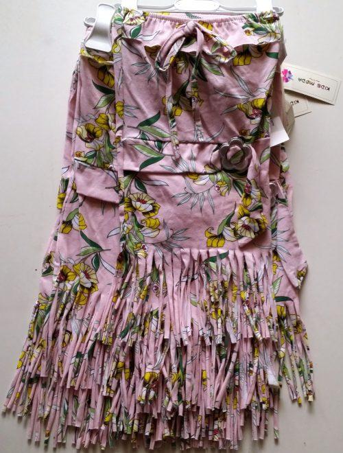 jurk roze franje