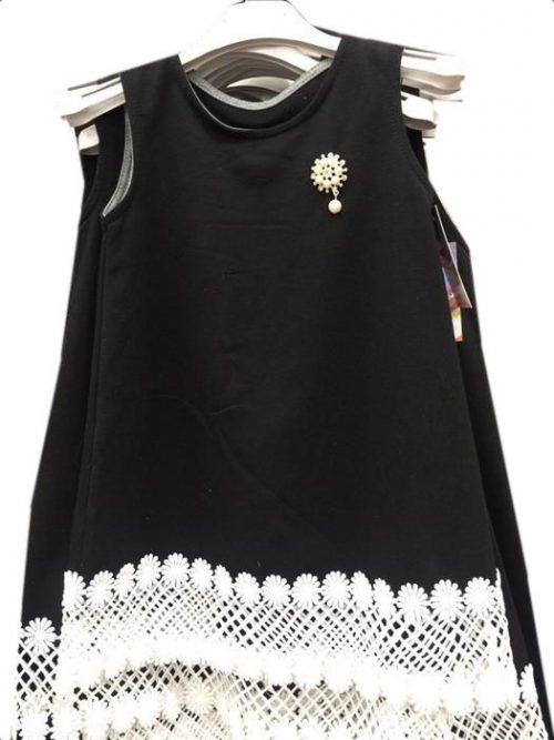 jurk black met kant