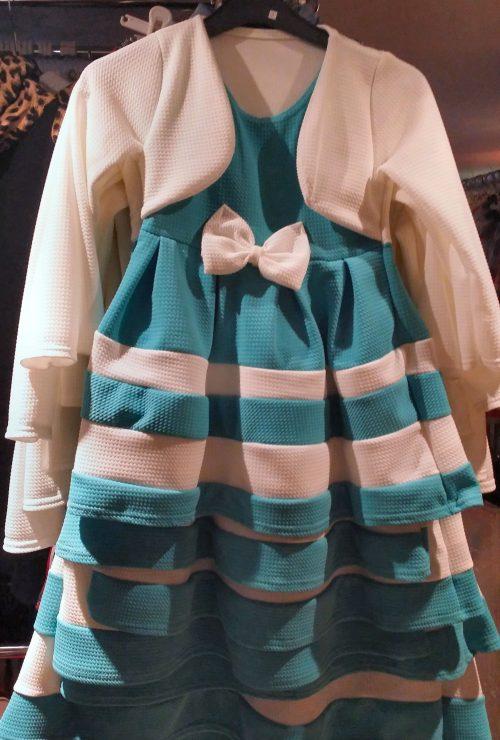jurk dubbellook color Prachtig dubbellook jurkje met strik voorop Materiaal: 95% polyester 5% elasthan - GRATIS VERZENDING - BETAAL VEILIG MET IDEAL - OPHALEN MOGELIJK nr. mj2474t