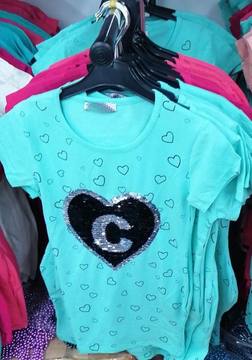 jurk harts c met omkeerbare pailletten