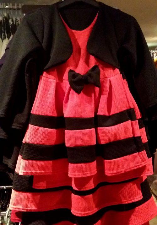 dubbellook jurk rood Prachtig dubbellook jurkje met strik voorop - GRATIS VERZENDING - BETAAL VEILIG MET IDEAL - OPHALEN MOGELIJK nr.mj2083