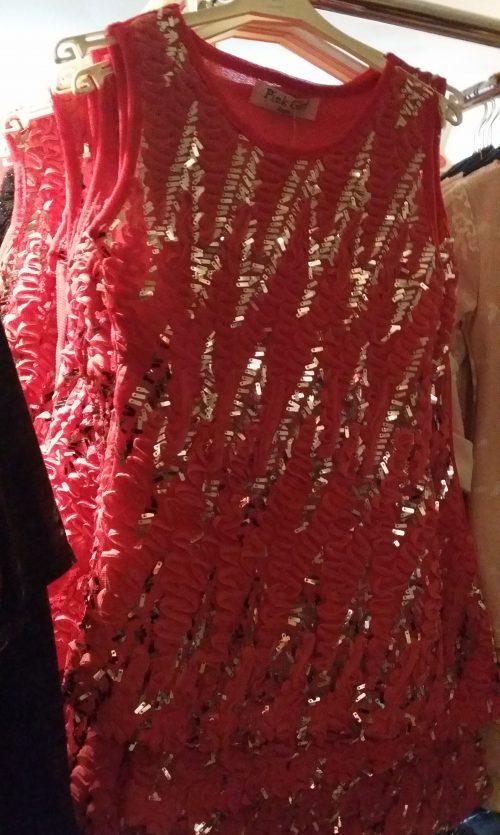 jurk met pailletten Mooi jurkje in roze met zilveren pailletten - BETAAL VEILIG MET IDEAL - OPHALEN MOGELIJK