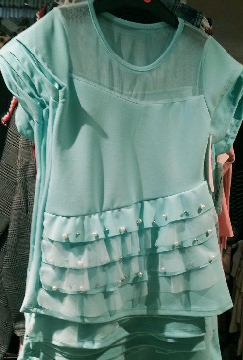 jurk mint met parels Mooi jurkje met parels - GRATIS VERZENDING - BETAAL VEILIG MET IDEAL - OPHALEN MOGELIJK nr.mj2218