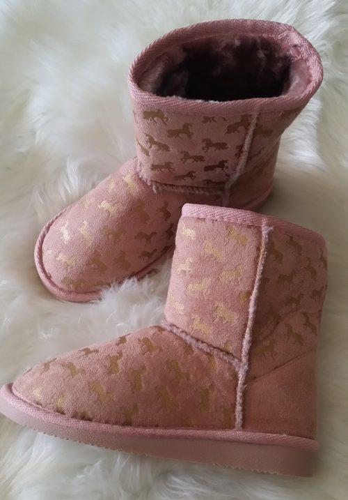 boots roze bontgevoerd en paardjes Mooie kwaliteit laarzen De laarzen zijn lekker warm gevoerd met imitatiebont Voor de paardenliefhebbers - GRATIS VERZENDING - BETAAL VEILIG MET IDEAL - OPHALEN MOGELIJK nr.b1000r