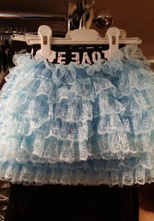 rok blue met kant love Schattig rokje met elastieken band en roesels van kant - GRATIS VERZENDING - BETAAL VEILIG MET IDEAL - OPHALEN MOGELIJK nr.mr1001