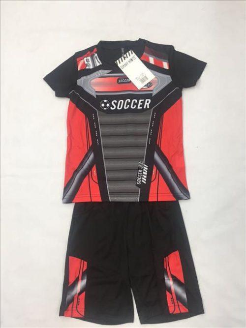 voetbal set rood Leuke korte broek met bijpassend shirt in frisse kleuren - GRATIS VERZENDING - BETAAL VEILIG MET IDEAL - OPHALEN MOGELIJK nr.jks1017