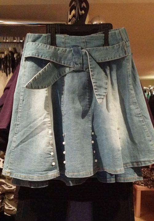 jeans rok pearl Leuk jeansrokje met pareltjes - GRATIS VERZENDING - BETAAL VEILIG MET IDEAL - OPHALEN MOGELIJK nr.h1073