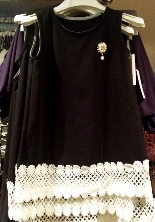 jurk black met kant Mooi jurkje met kant langs onderkant - GRATIS VERZENDING - BETAAL VEILIG MET IDEAL - OPHALEN MOGELIJK nr. mj2222