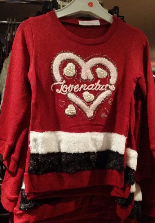 trui love Mooie trui met applicatie van een hart met glitters Materiaal: 65% katoen 25% polyester 5% elasthan - GRATIS VERZENDING - BETAAL VEILIG MET IDEAL - OPHALEN MOGELIJK nr.r2021