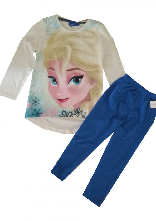 legging met shirt frozen wollige blauwe legging gecombineerd met een Disney Frozen longsleeve Extra voordelige combinatie Ophalen mogelijk nr. mks1003