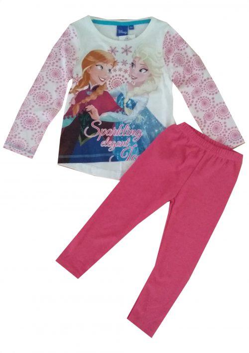 legging met shirt frozen anna en elsa wollige roze legging gecombineerd met een Disney Frozen longsleeve Extra voordelige combinatie Ophalen mogelijk nr. mks1004