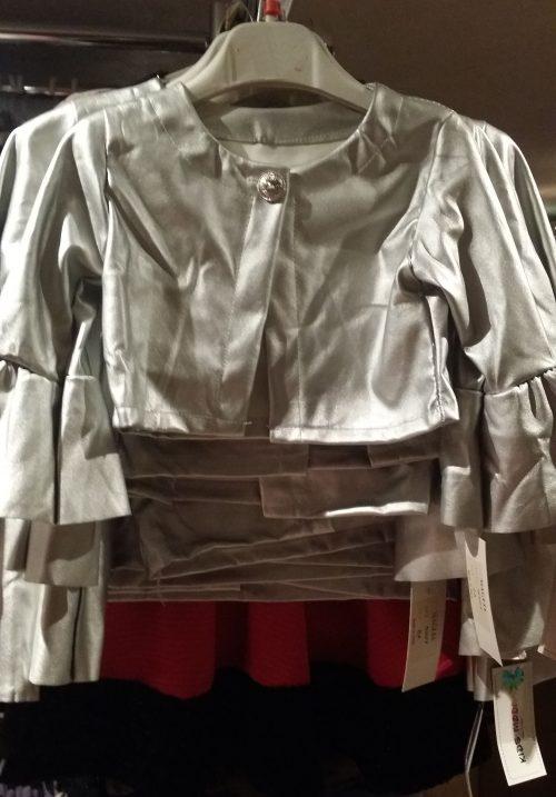 kort zilver jasje met flair mouwen Trendy lederlook zilver jasje met flair mouwen   BETAAL VEILIG MET IDEAL OPHALEN OF VERZENDEN mjs1036