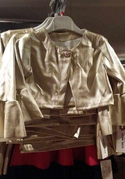 kort goud jasje met flair mouwen Trendy lederlook gouden jasje met flair mouwen   BETAAL VEILIG MET IDEAL OPHALEN OF VERZENDEN mjs1037