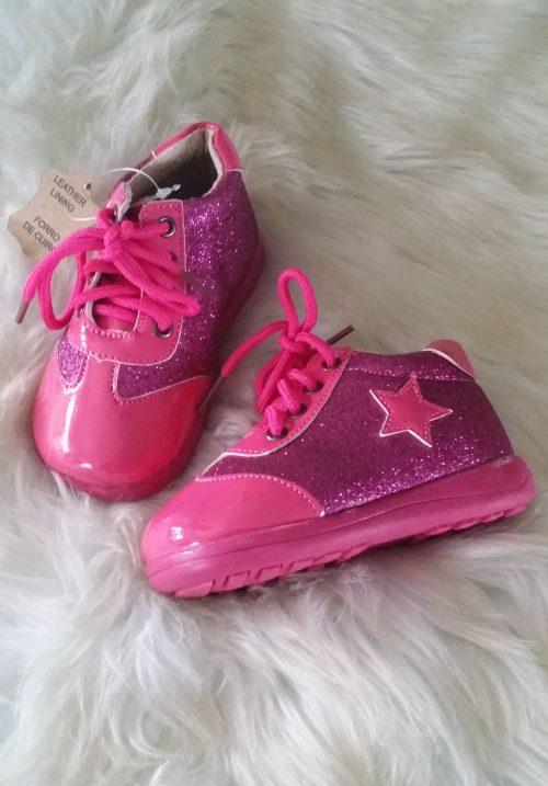 schoen roze lak star Mooie kwaliteit schoenen met lak en glitters De binnenkant is echt leer Goede pasvorm Ophalen mogelijk nr.b1004