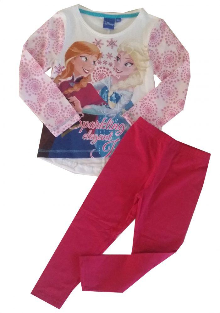 fuchsia legging met frozen shirt Mooie kwaliteit legging gecombineerd met een Disney Frozen shirt Het shirt staat ook leuk op een spijkerbroek Extra voordelige combinatie Ophalen mogelijk nr.mks1008