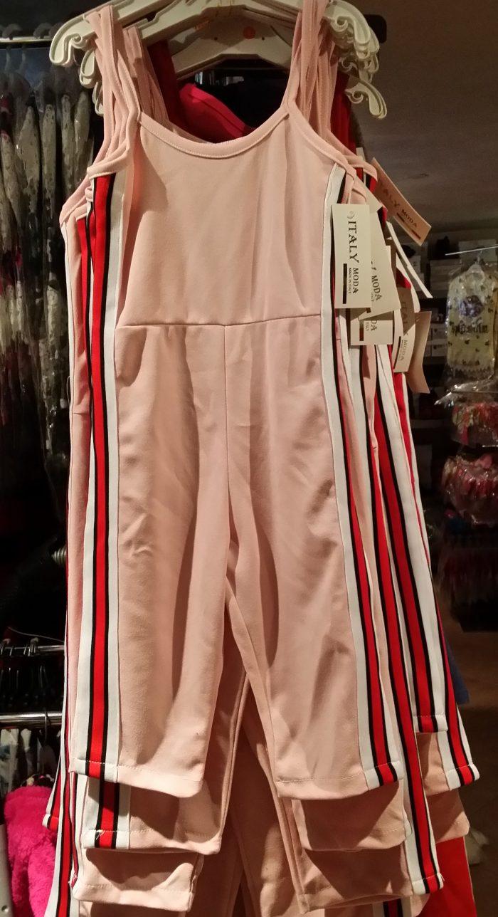 jumpsuit roze Mooie kwaliteit jumpsuit in roze  Aan de zijkanten trendy strepen  Ophalen mogelijk nr.mks1426
