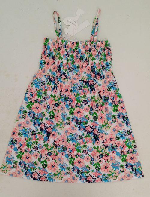 jurk flower color Mooi jurkje met bloemen allover De schouderbandjes zijn verstelbaar Het bovenlijfje is geschmockt Materiaal: 65% katoen 35% polyester - BETAAL VEILIG MET IDEAL - OPHALEN MOGELIJK nr.mj2458