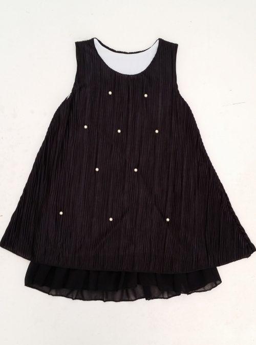 jurk met parels Mooi jurkje in zwart met pareltjes aan de voorkant  - BETAAL VEILIG MET IDEAL - OPHALEN MOGELIJK nr.mj2505