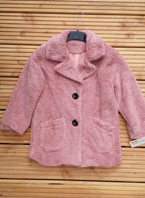 bontjas met zakken roze  Hippe teddy jas van imitatiebont in roze met zakjes voorop - BETAAL VEILIG MET IDEAL - OPHALEN MOGELIJK artikelnummer mjs1018