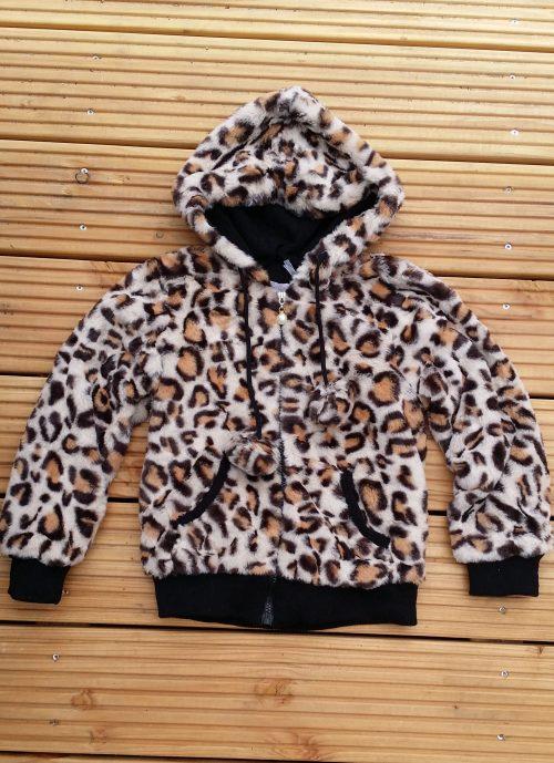 bontjas leopard met capuchon Leuke warme jas panter met capuchon - BETAAL VEILIG MET IDEAL - OPHALEN MOGELIJK artikelnr.mjs1030