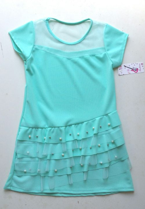 jurk mint met parels Mooi jurkje met parels - BETAAL VEILIG MET IDEAL - OPHALEN MOGELIJK nr.mj2218