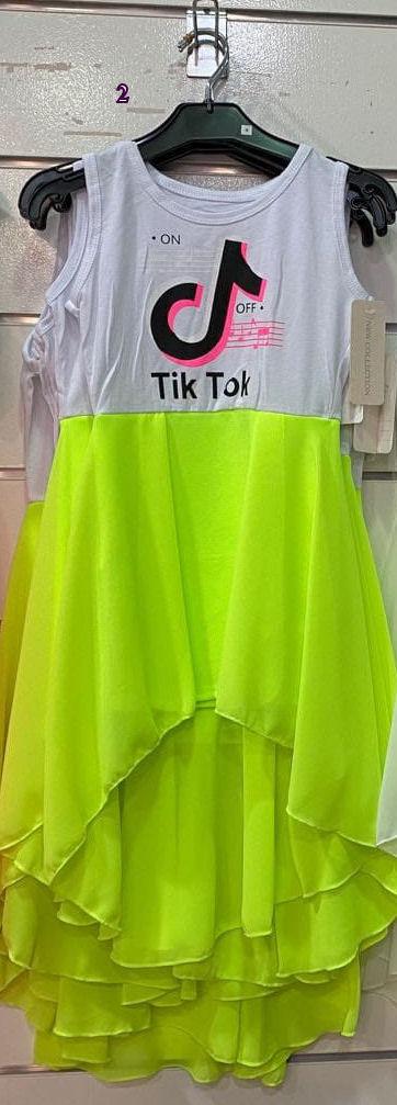 jurk fluor tik tok jurk tiktok fluor nr.z016g