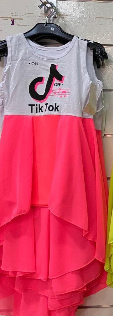 jurk fluor tik tok jurk tiktok fluor nr.z016