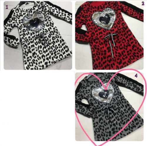 jurk leopard met omkeerbare pailletten Mooi jurkje met toverpailletten nr.z6001