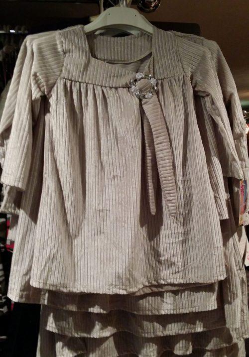 jurk velours zilvergrijs Mooi jurkje in zilvergrijs velours  - BETAAL VEILIG MET IDEAL - OPHALEN MOGELIJK nr.mj2501