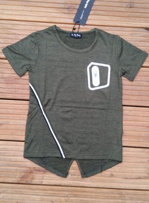 shirt army green Mooi shirt voor jongens in de kleur army green 65% polyester 30% katoen 5% elasthan Ophalen of verzenden