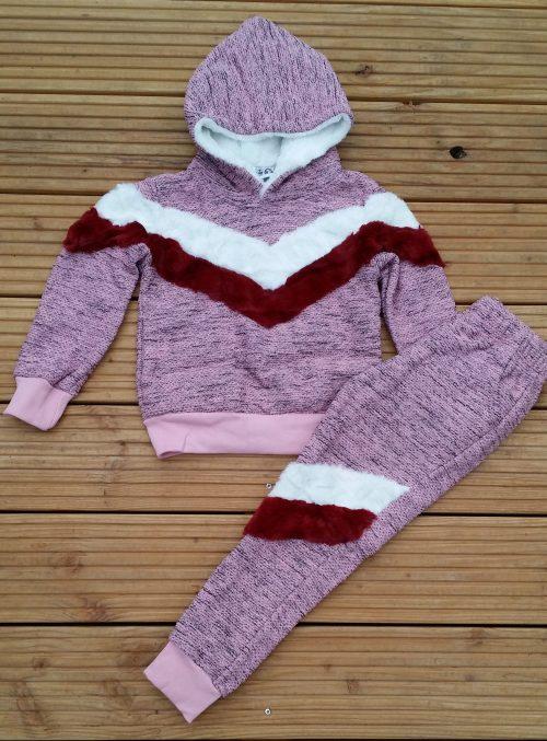 komplete set roze Lekker warm pak in roze Met vaste capuchon Ophalen mogelijk