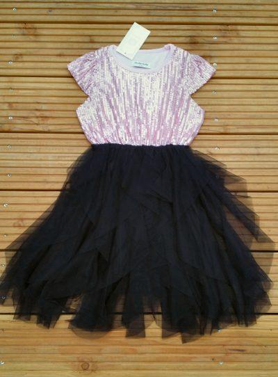 Jurk zwart glitter Exclusief jurkje voor bijv. speciale gelegenheden Glitter bovenkant Mooie kwaliteit -BETAAL VEILIG MET IDEAL -OPHALEN MOGELIJK